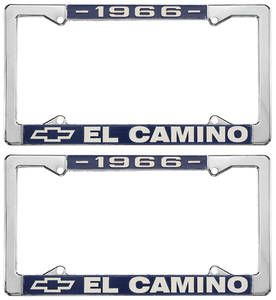 1966-1966 El Camino License Plate Frames, El Camino Custom, by RESTOPARTS