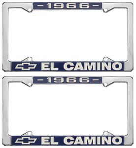 1966 License Plate Frames, El Camino Custom