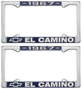 1967 License Plate Frames, El Camino Custom