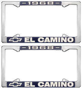 1968 License Plate Frames, El Camino Custom, by RESTOPARTS