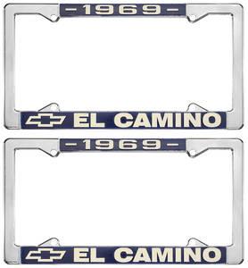 1969 License Plate Frames, El Camino Custom