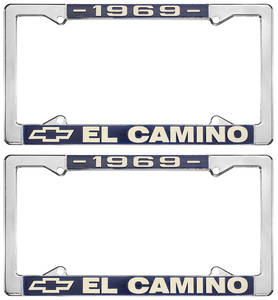 1969 License Plate Frames, El Camino Custom, by RESTOPARTS