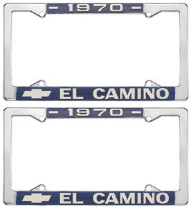 1970-1970 El Camino License Plate Frames, El Camino Custom, by RESTOPARTS