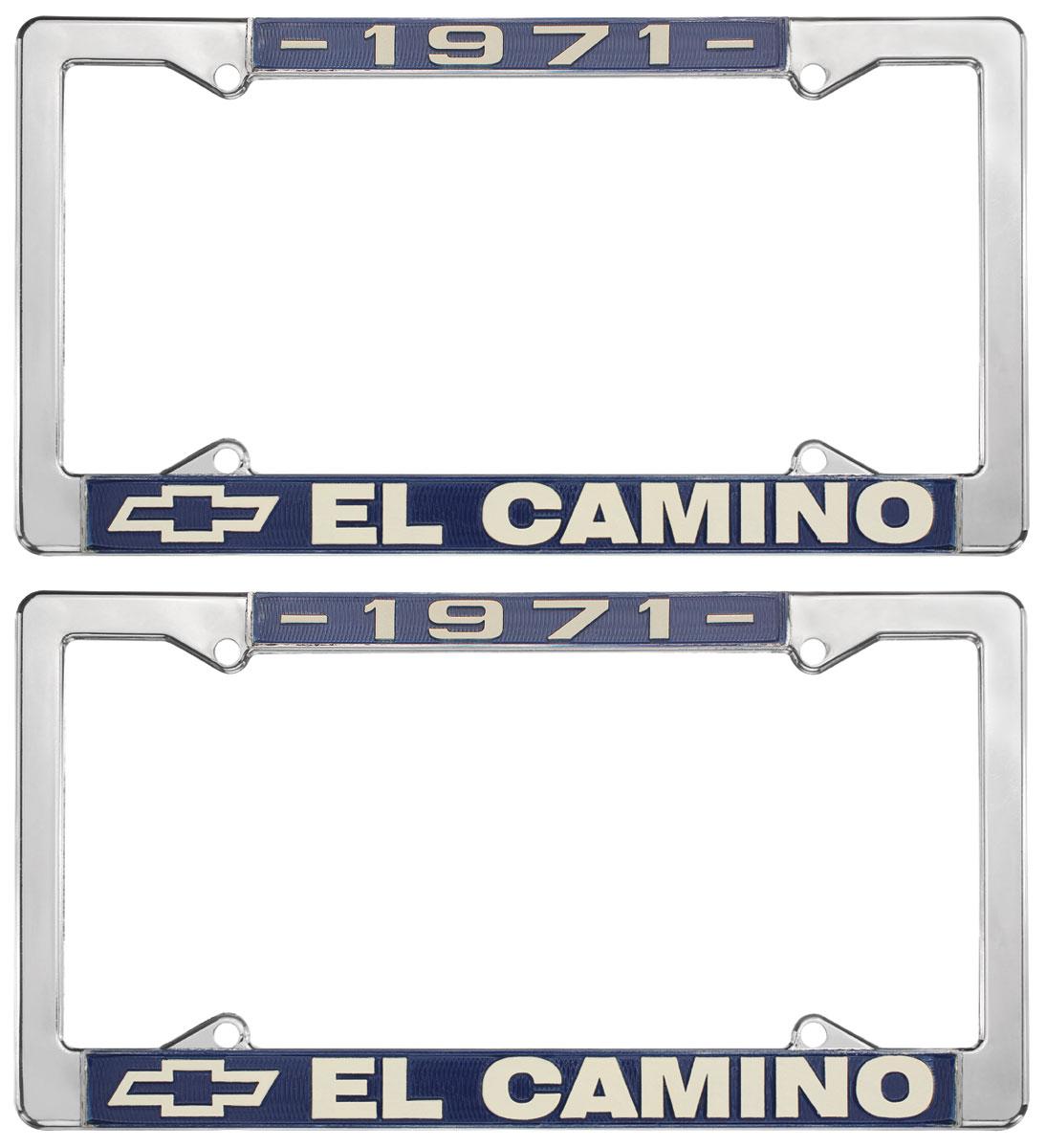 Photo of License Plate Frames, El Camino Custom