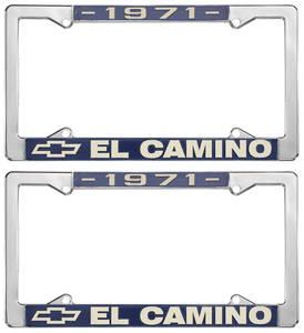 1971 License Plate Frames, El Camino Custom, by RESTOPARTS