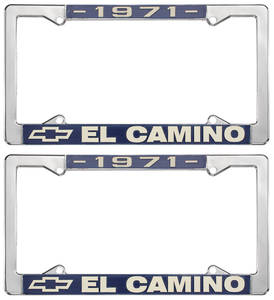 1971 License Plate Frames, El Camino Custom, by RESTOPARTS