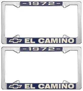 1972 License Plate Frames, El Camino Custom, by RESTOPARTS