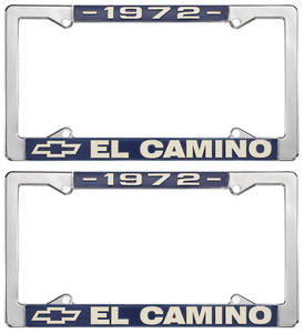1972 License Plate Frames, El Camino Custom