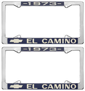 1973-1973 El Camino License Plate Frames, El Camino Custom, by RESTOPARTS