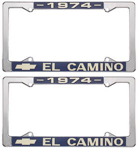 1974-1974 El Camino License Plate Frames, El Camino Custom, by RESTOPARTS