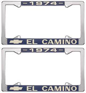 1974 License Plate Frames, El Camino Custom, by RESTOPARTS