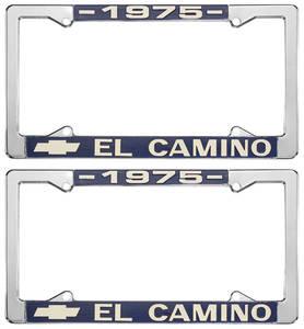 1975-1975 El Camino License Plate Frames, El Camino Custom, by RESTOPARTS