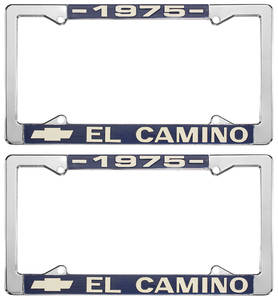License Plate Frames, El Camino Custom