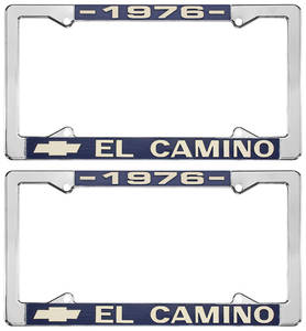 1976-1976 El Camino License Plate Frames, El Camino Custom, by RESTOPARTS