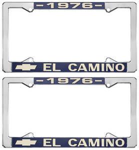 1976 License Plate Frames, El Camino Custom