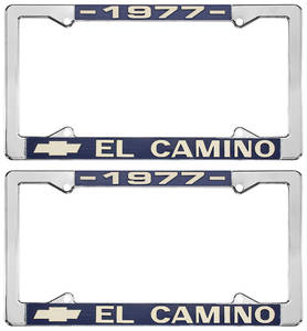 1977-1977 El Camino License Plate Frames, El Camino Custom, by RESTOPARTS