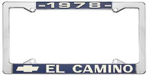 """1978-1978 El Camino License Plate Frame, """"El Camino"""", by RESTOPARTS"""