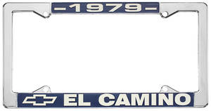 "1979-1979 El Camino License Plate Frame, ""El Camino"", by RESTOPARTS"