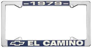 "1979 License Plate Frame, ""El Camino"", by RESTOPARTS"