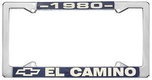 """1980-1980 El Camino License Plate Frame, """"El Camino"""", by RESTOPARTS"""