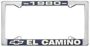 "1980 License Plate Frame, ""El Camino"""