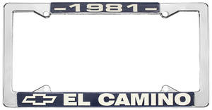 "1981 License Plate Frame, ""El Camino"", by RESTOPARTS"