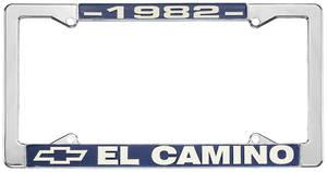 """1982-1982 El Camino License Plate Frame, """"El Camino"""", by RESTOPARTS"""