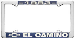 """License Plate Frame, """"El Camino"""" El Camino"""