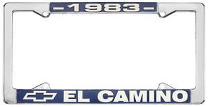 "1983 License Plate Frame, ""El Camino"", by RESTOPARTS"