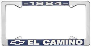 "1984 License Plate Frame, ""El Camino"", by RESTOPARTS"