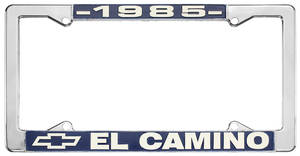 "1985 License Plate Frame, ""El Camino"""