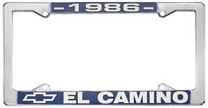 "1986 License Plate Frame, ""El Camino"""
