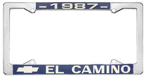 "1987-1987 El Camino License Plate Frame, ""El Camino"", by RESTOPARTS"