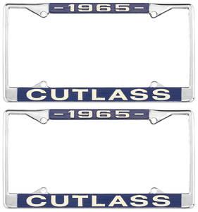 1965-1965 Cutlass License Plate Frames, Cutlass Custom, by RESTOPARTS