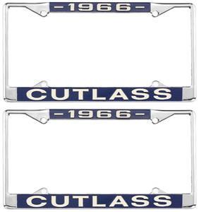 1966-1966 Cutlass License Plate Frames, Cutlass Custom, by RESTOPARTS