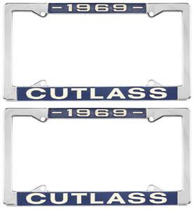 1969-1969 Cutlass License Plate Frames, Cutlass Custom, by RESTOPARTS