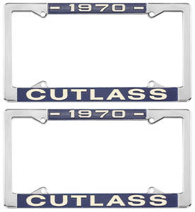 1970-1970 Cutlass License Plate Frames, Cutlass Custom, by RESTOPARTS
