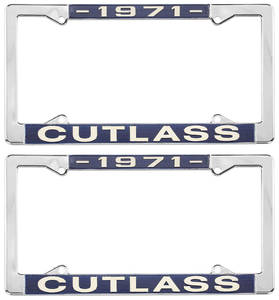1971 License Plate Frames, Cutlass Custom