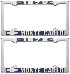 """License Plate Frame, """"El Camino"""" Monte Carlo"""