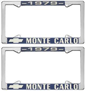 """1979-1979 Monte Carlo License Plate Frame, """"Monte Carlo"""""""