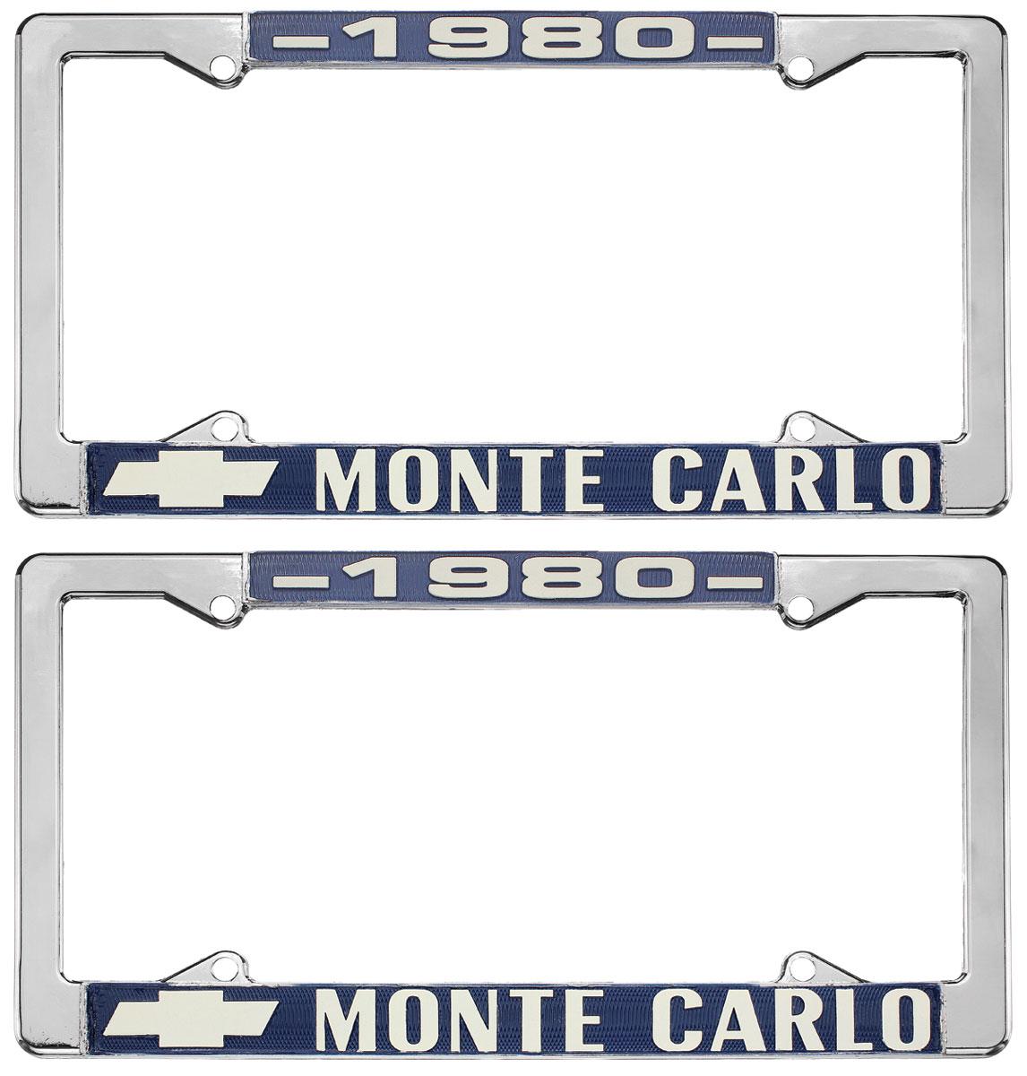 "Photo of License Plate Frame, ""El Camino"" Monte Carlo"