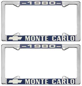 """1980-1980 Monte Carlo License Plate Frame, """"Monte Carlo"""""""
