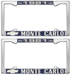 """1981-1981 Monte Carlo License Plate Frame, """"Monte Carlo"""""""