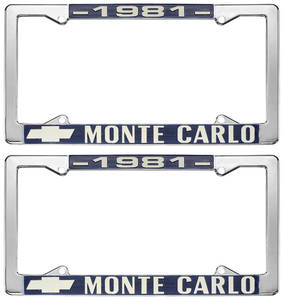 "1981 License Plate Frame, ""Monte Carlo"""
