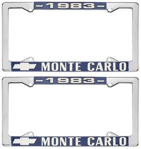 """1983-1983 Monte Carlo License Plate Frame, """"Monte Carlo"""""""