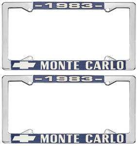 "1983 License Plate Frame, ""Monte Carlo"""