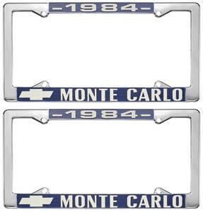 """1984-1984 Monte Carlo License Plate Frame, """"Monte Carlo"""""""
