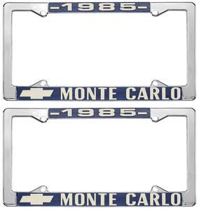"1985 License Plate Frame, ""Monte Carlo"""