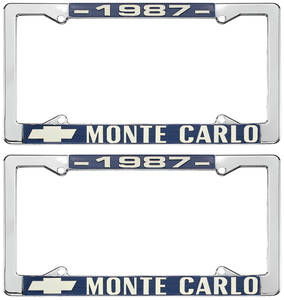 """1987-1987 Monte Carlo License Plate Frame, """"Monte Carlo"""""""