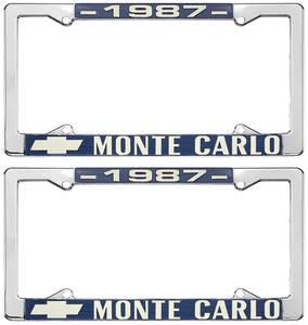 "1987 License Plate Frame, ""Monte Carlo"""